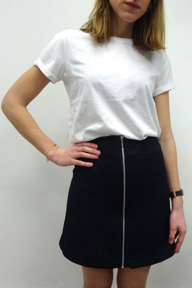 La jupe zippée
