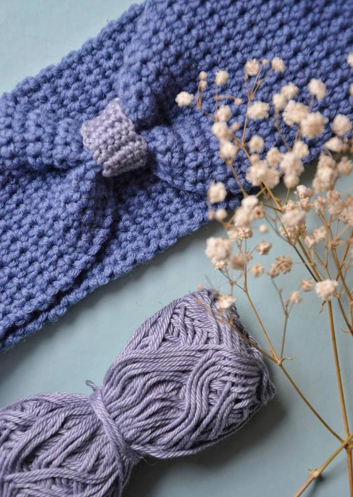 Atelier headband crocheté