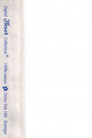 Coton imprimé nénuphar bleu