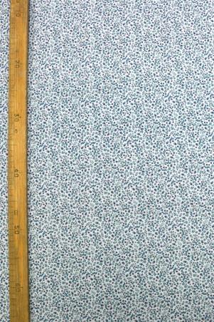 Coton imprimé nénuphar indigo