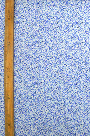 Coton imprimé nénuphar bleu électrique